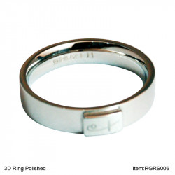 3D Ring Polished (SS)