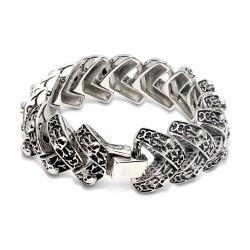 Fishbone Skull Bracelet (SS)