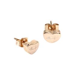 Tiny Heart Stud Earrings RG...